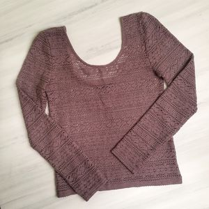 American Eagle Outfitters Tops - American Eagle Pointelle Scoop Top